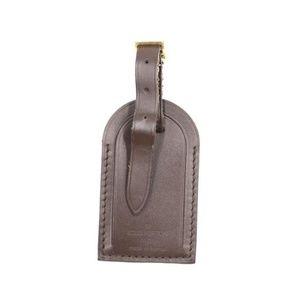 Brown Keepall Speedy Alma Calf Leather Luggage Tag